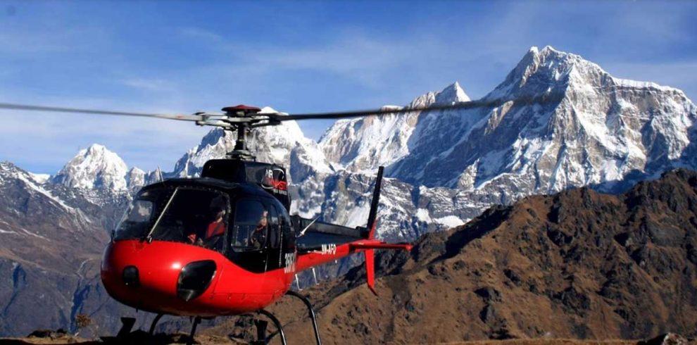 Damodar Kund Nepal by Helicopter