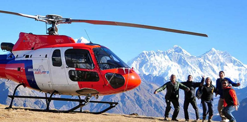 Helicopter from Everest Base Camp to Lukla