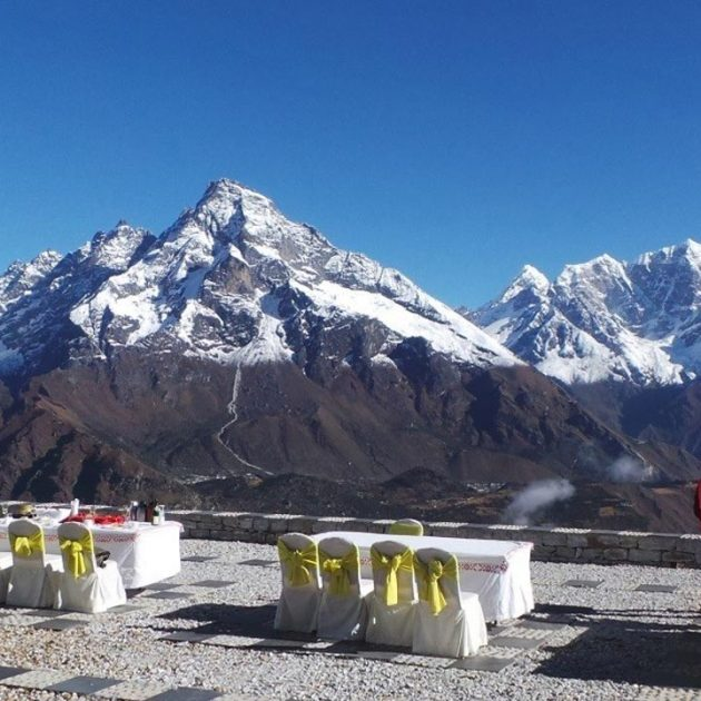 Breakfast in Everest View Hotel Helicopter Tour